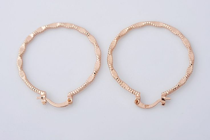 14K rose gold filled hoop earrings, 40mm x 36mm @ AUD$12.00 + postage or local pick up available.