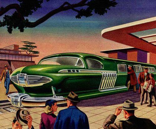Future Commuter - art by Arthur Radebaugh - 1947