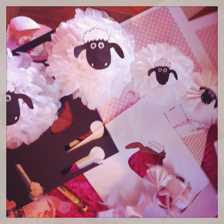 Decorations for Shaun the Sheep party