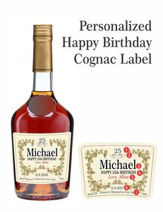 Personalized Cognac Labels Hennessy Style