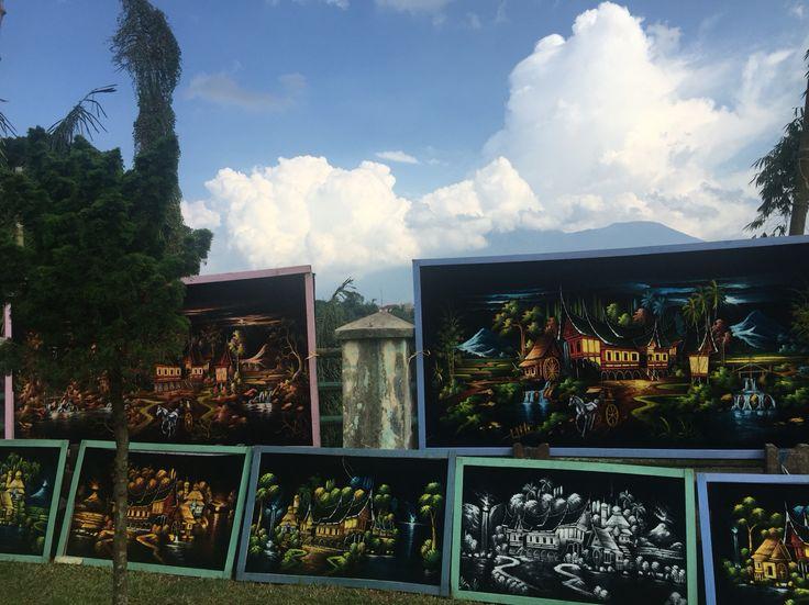 Local painting in Bukittinggi