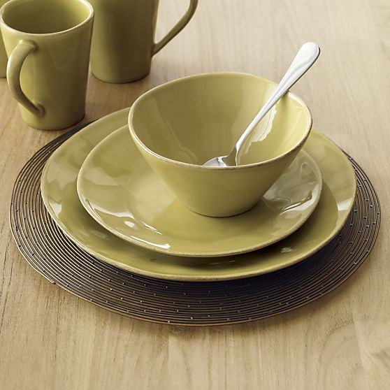 Marin Green Dinner Plate in Dinnerware Sets | Crate and Barrel