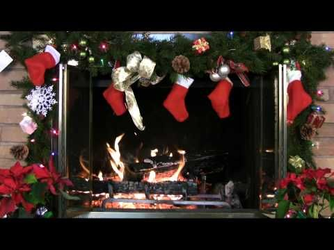 ♥♥ 1 Hour Christmas Holiday Yule Log Fireplace (in HD) - YouTube