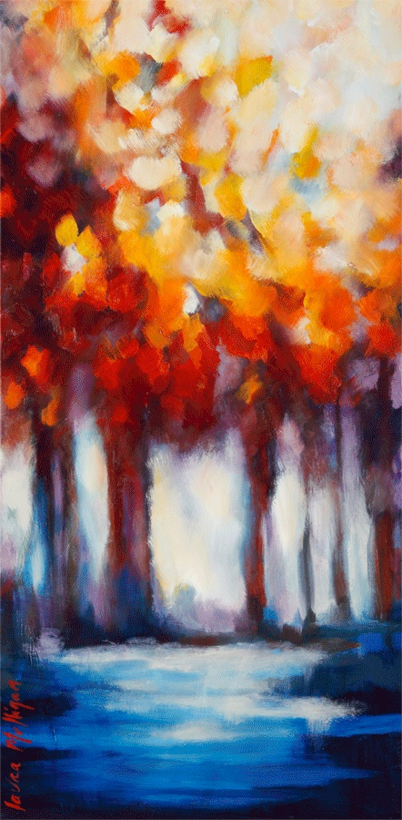 Redleaf forest by Laura Mulligan - PAINTING
