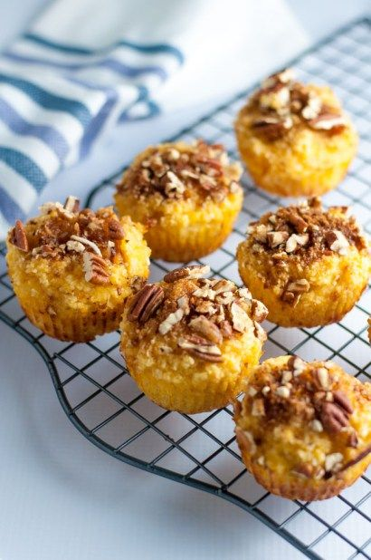 These paleo Pina Colada Muffins with Pecan Crumble are naturally sweetened with honey and pineapple. This is an easy gluten-free and dairy-free recipe.