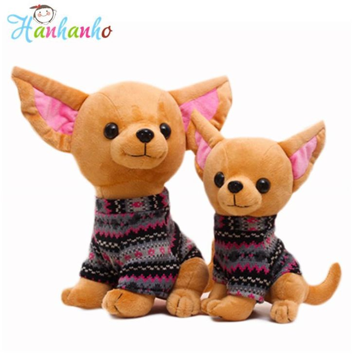 Cute Chihuahua Puppy Plush Toy Dog Doll With Clothes Children's Gift