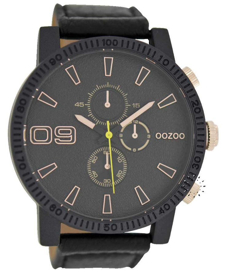 OOZOO XXL Timepieces Black Leather Strap Μοντέλο: C6484 Η τιμή μας: 65€ http://www.oroloi.gr/product_info.php?products_id=38691