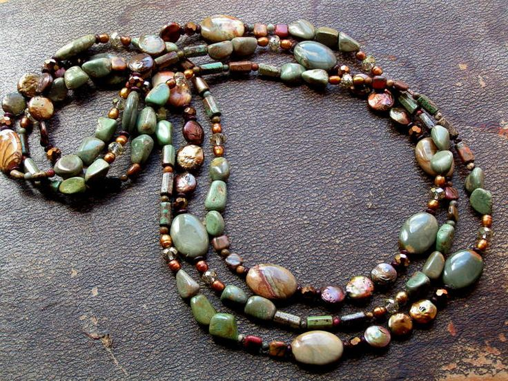 olive & teal turquoise, freshwater coin pearls, wildhorse jasper, crystals,