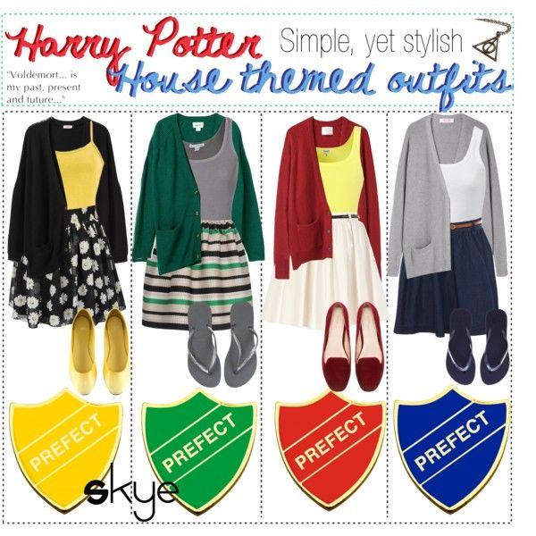 """Harry Potter House Themed Outfits; Simple, yet stylish!"" by thetipcastle on Polyvore"