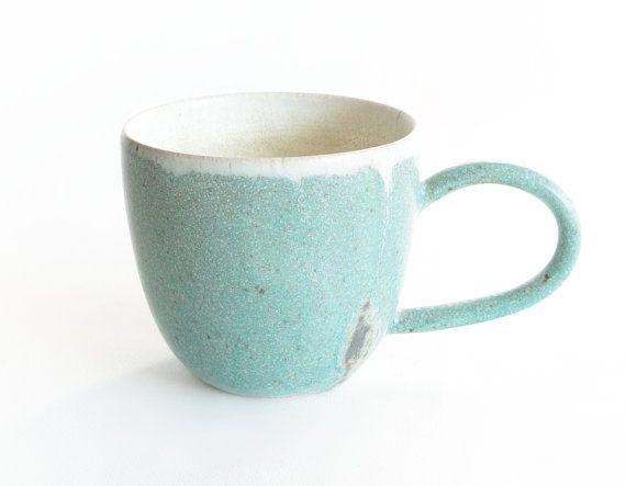 Green Blue and Grey Mug Handmade ceramics by RzucidloCeramics