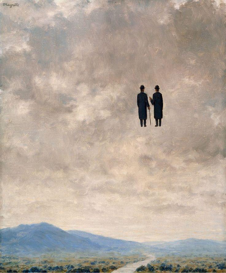 "aizobnomragym: "" Rene Magritte ""The Art of Conversation"" """