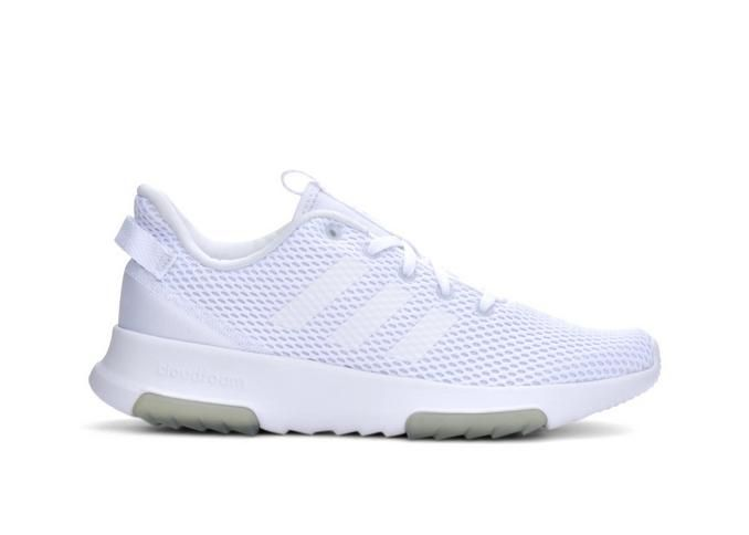 Women's Adidas Racer TR Running Shoes White/Grey | Shoe Carnival