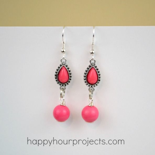 Using Connectors to Make Easy Earrings at www.happyhourprojects.com