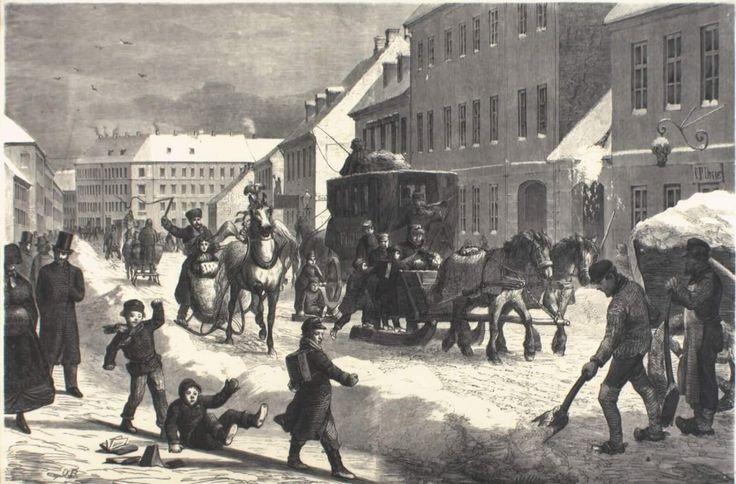 Vesterbrogade 67 i 1865. Kunstner Otto Bache. Vist i Illustreret Tidende. (Københavns omegn)
