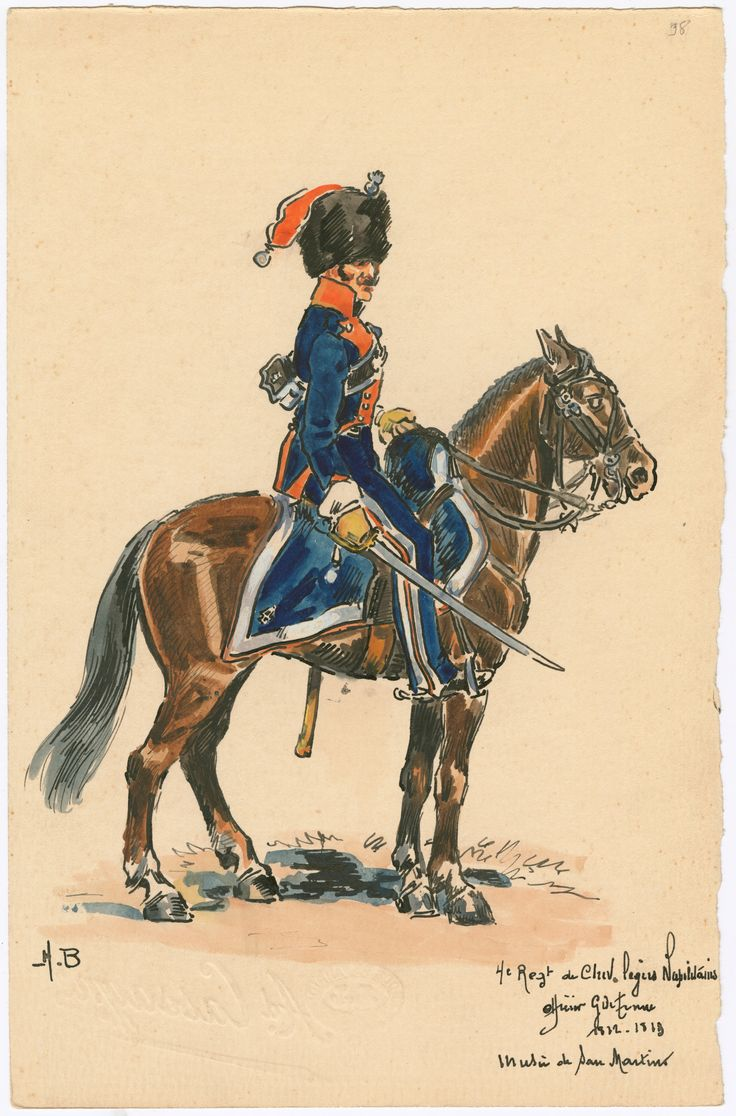 Kingdom of Naples; 4th Regt, Cheveau Legers, Officer, Grande Tenue, 1812-13