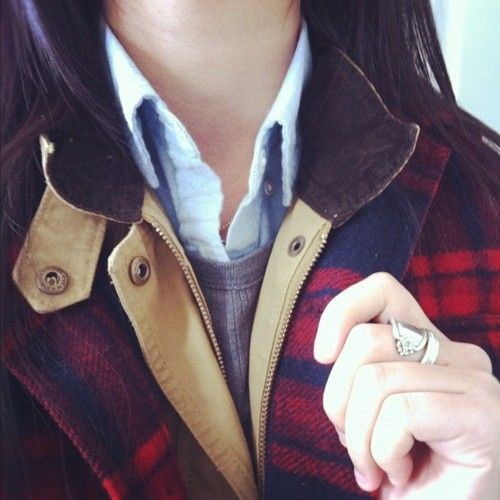 Plaid. Menswear inspired.Flannels Jackets, Spoon Rings, Fall Layered, Fall Winte, Spoons Rings, Baby Clothing, Style Fallwinter, Dreams Closets, Classic Plaid