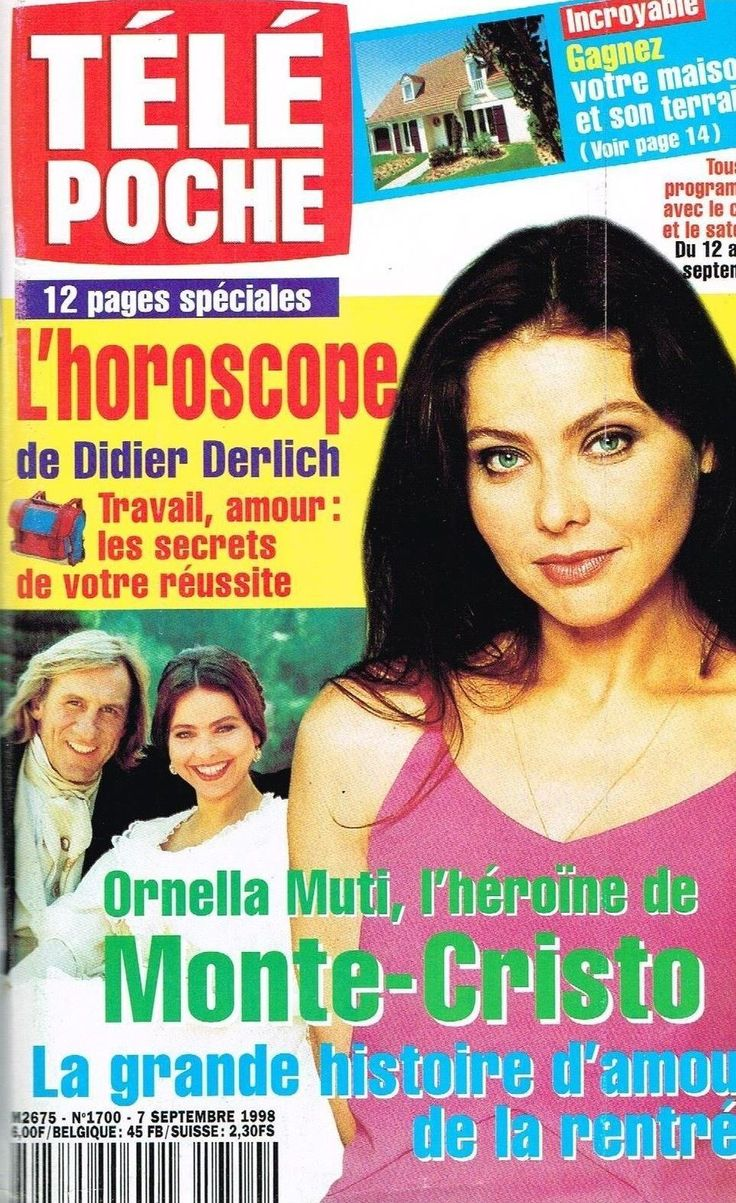 F - Télé Poche #1700 - Ornella Muti Heroine de Monte-Cristo