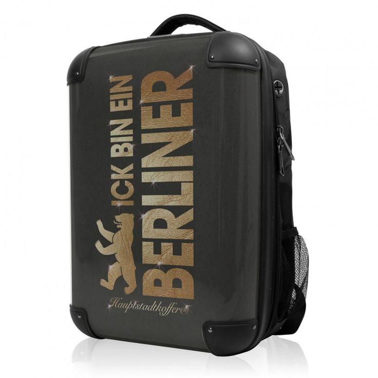 """BLNBAG - Rucksack Weich/Hart Hybrid Design: Ick bin ein Berliner, 50 cm, 28 Liter; Schwarzer #Rucksack aus der Serie """"BLNBAG"""" von #Hauptstadtkoffer.  #Hartschalenkoffer #Handgepäck #Schwarz #Koffer #Travel #Luggage #Reisen #Urlaub #black #Berlin => mehr Schwarze Koffer: https://hauptstadtkoffer.de/de/reisegepack/alle-produkte?color=24"""