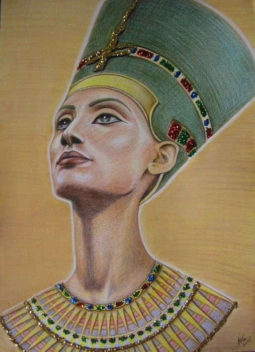 nefertiti drawing | StarsPortraits - Retratos de Nefertiti por victoriia