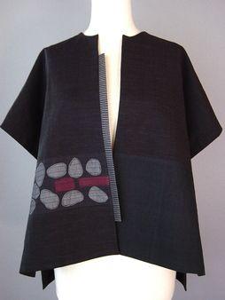 Длинные Кимоно куртка с абстрактными Квадраты