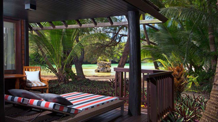 Le Meridien Ile Des Pins - waterfront bungalow terrace
