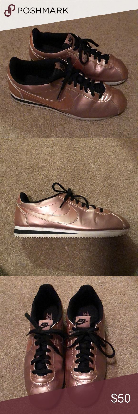 Nike Cortez rose gold women's 10.5 Nike classic Cortez  Rose gold Size women's 10.5 (fits like a 10) Only worn a couple times, great condition with lots of wear left Nike Shoes Sneakers