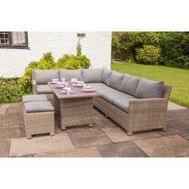 buy wentworth modular corner garden dining set from our rattan garden furniture range tesco - Garden Furniture The Range