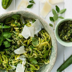 Baby Marrow Spaghetti with Chimichurri Sauce #Lunch #Recipe #BabyMarrow #SouthAfrica