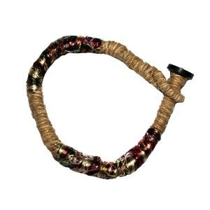 Hemp and silk bracelet
