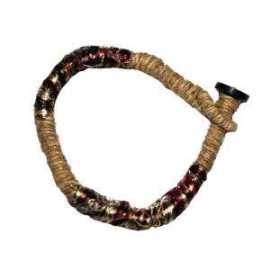 Hemp and silk bracelet
