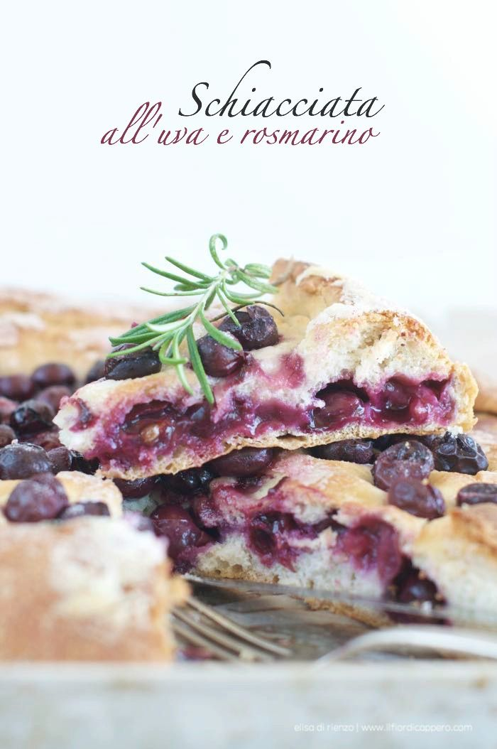 schiacciata all'uva fragola, specialità toscana
