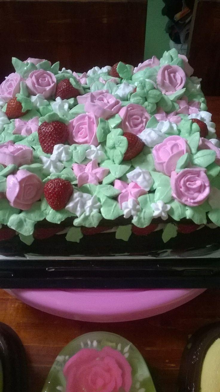 African choco birthday cake