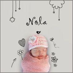 Kaartmix Geboortekaartjes meisje baby roze doodle birth announcement girl geboortekaartje lief geboortekaarten babykaart