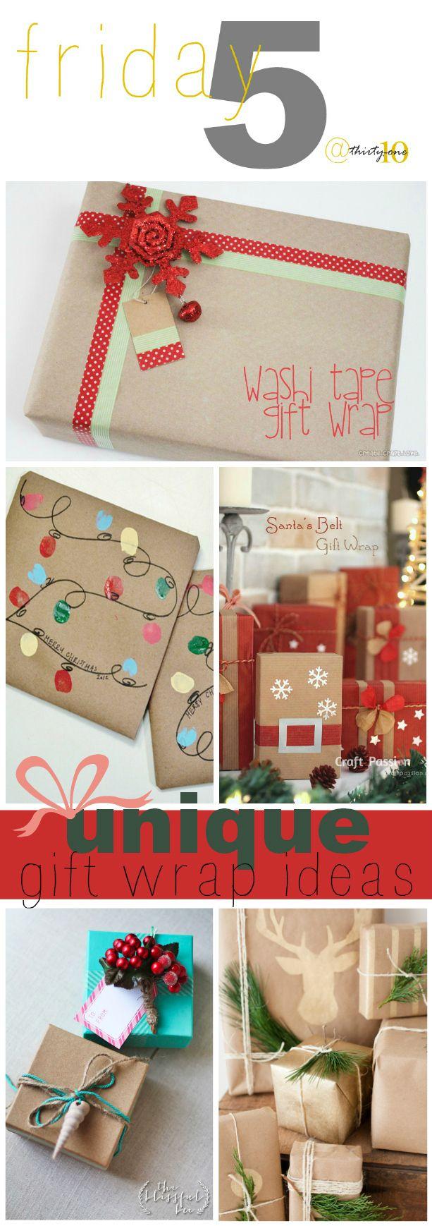 5 Unique Gift Wrap Ideas and Tutorials