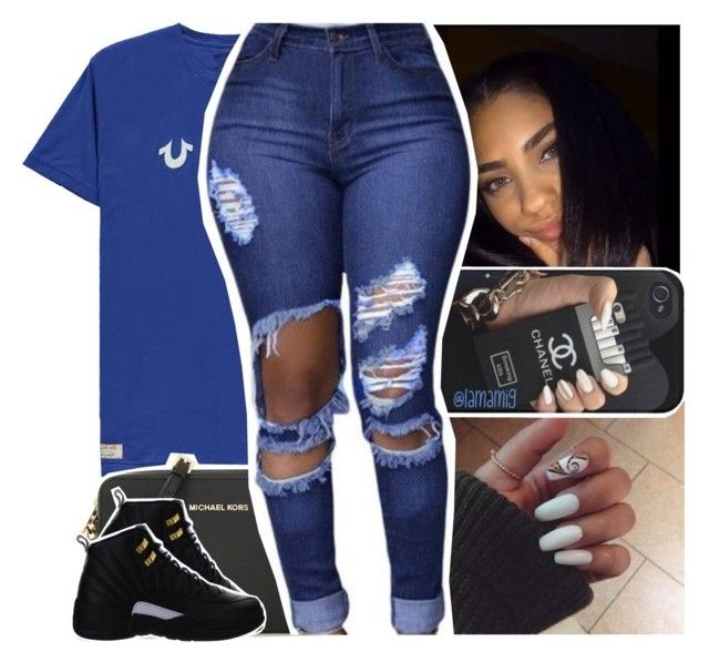 """if you looking for me, you can catch me *hotspot* cameras flashing"" by lamamig ❤ liked on Polyvore featuring True Religion, MICHAEL Michael Kors and NIKE"