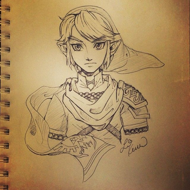 Hyrule Warriors Link. The scarf seems very fitting for him. By @li kovacs...