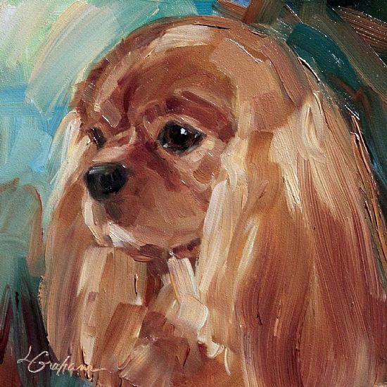 All in the Family series, ruby by Lindsey Bittner Graham Oil ~ 6 x 6