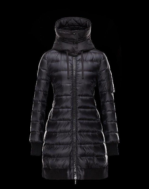 Damen jacken wellensteyn, Moncler CHAMBLY Damen Mantel Für Sie Schwarz Polyamid