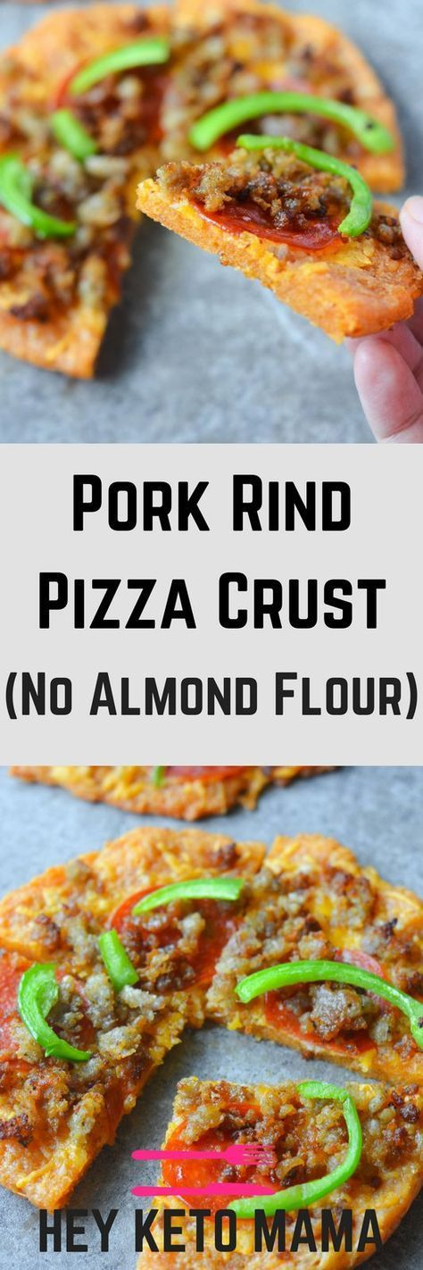 Better than Fat Head Pizza, this Low Carb Pizza fills you up at a fraction of the calories and carbs! The secret? Pork Rind Power!