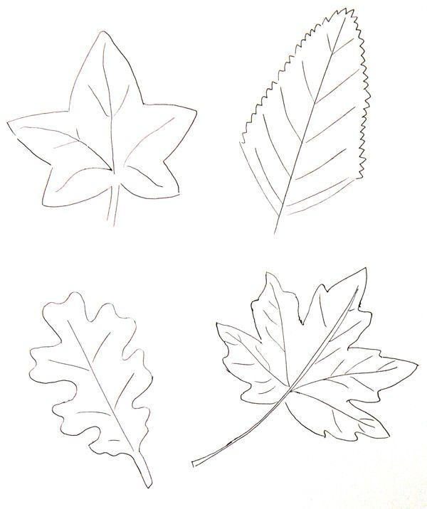 Colorier des feuilles d 39 automne - Dessiner des feuilles d automne ...