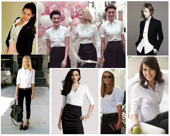 24 Best images about How to Wear a White Button-Down Shirt on ...