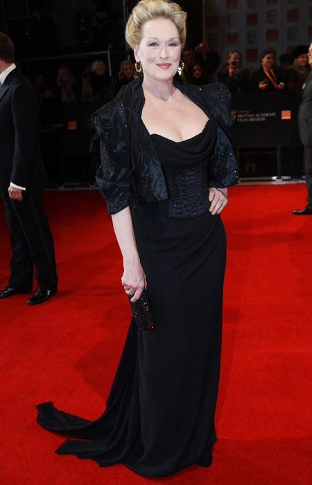 BAFTA awards 2012 streep in vivienne westwood