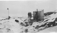 The first hut, built on Kapp Circoncision, in 1929, Bouvet Island