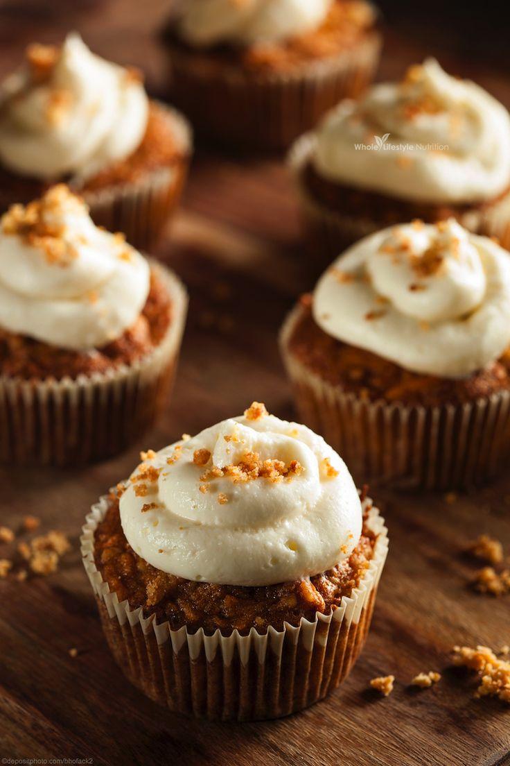 Gluten Free and Grain Free Carrot Cake Cupcake Recipe | WholeLifestyleNutrition.com