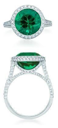 Round Brilliant Emerald Ring, Tiffany.