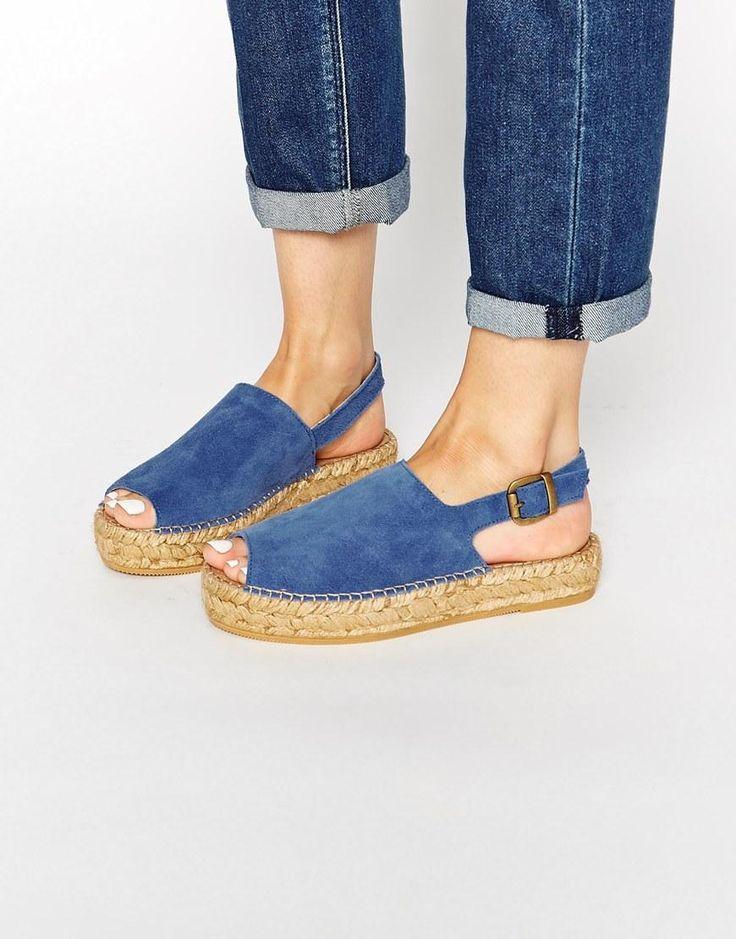 Park Lane   Park Lane Suede Flatform Espadrille Sandals at ASOS