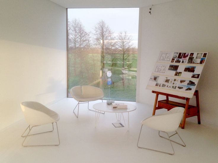 White coffee table.