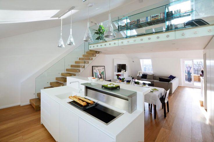 Apartamento em terraço vitoriano ganha uma decoração moderna - limaonagua