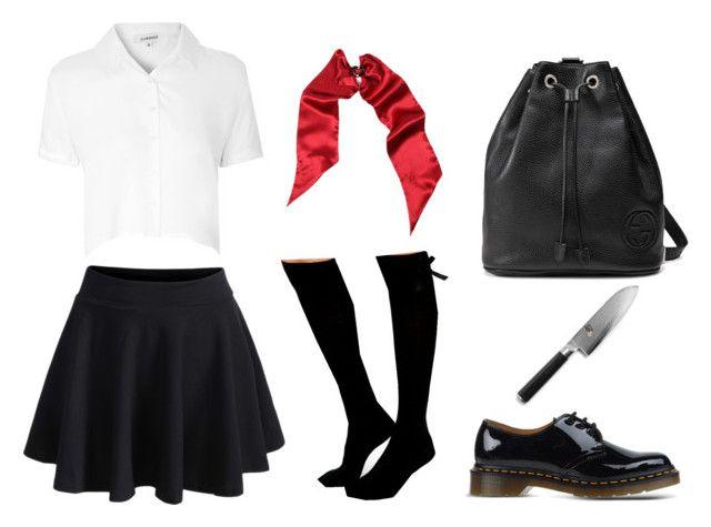 """Japan uniform"" by lera-ezhkova ❤ liked on Polyvore"