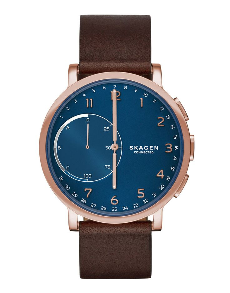 Cool father's day tech gift for the Android user who covets a smartwatch: Skagen Connected Hybrid Smartwatch